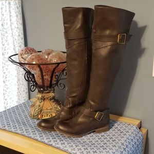 EUC Pair of Tall Brown Boots